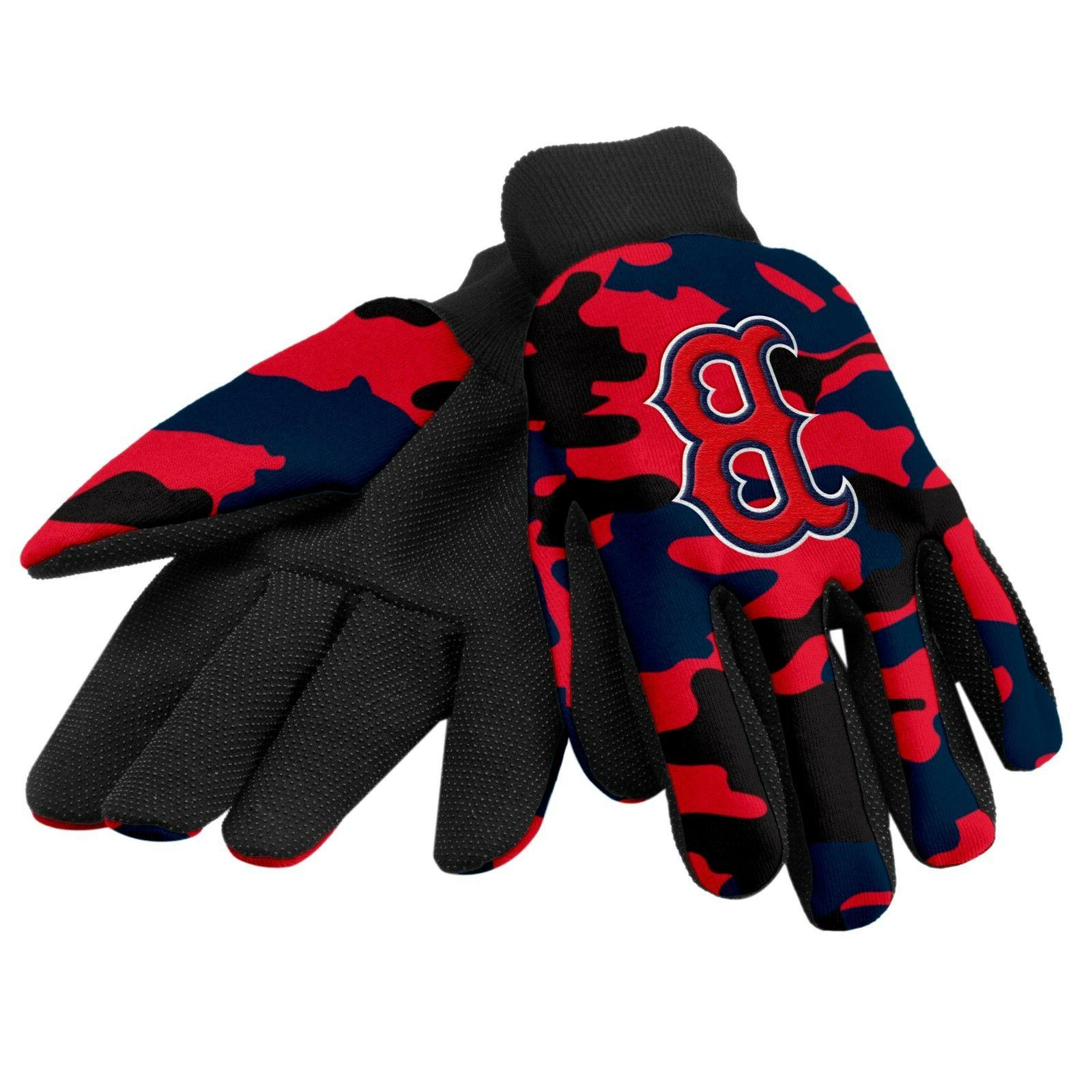 boston red sox camouflage sports utility gloves