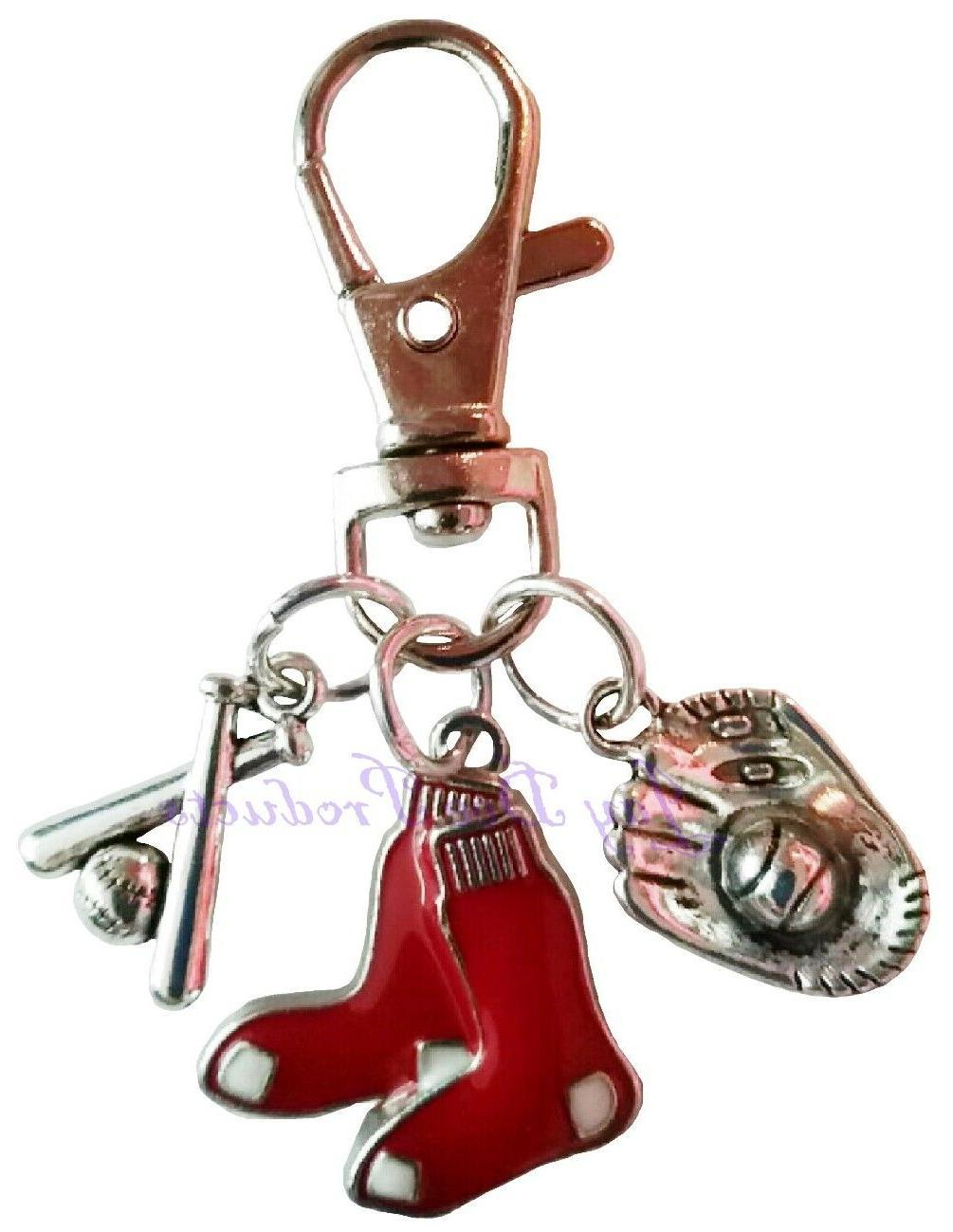 boston red sox collar charm set