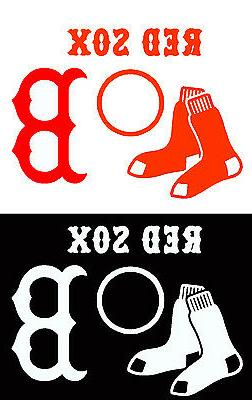 Boston Red Sox Cornhole Decal Set 4 or 8 pcs - Sox Nation Ba