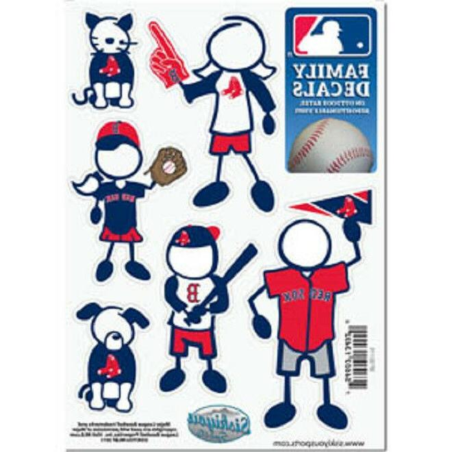 boston red sox family decals 6 pack