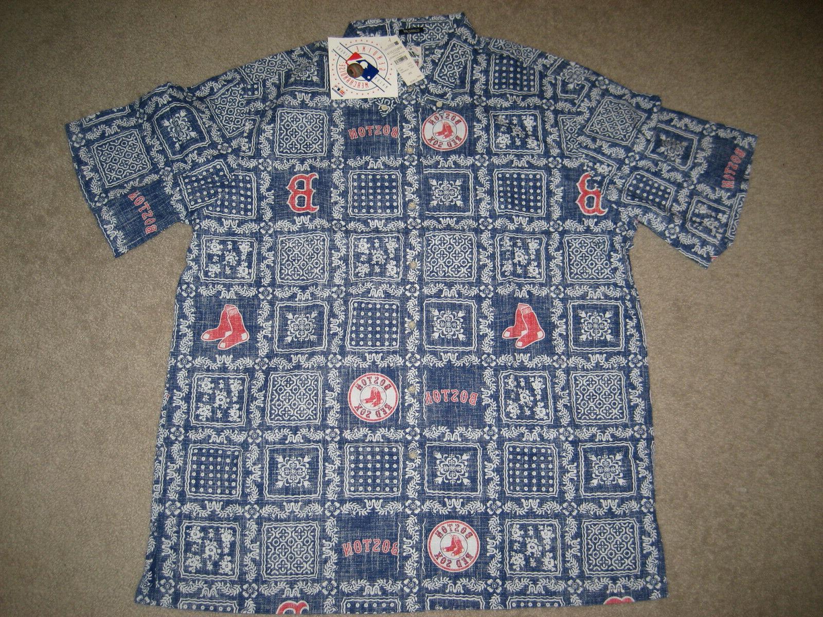 boston red sox hawaiian shirt classic emblems