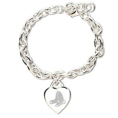 boston red sox heart charm bracelet new