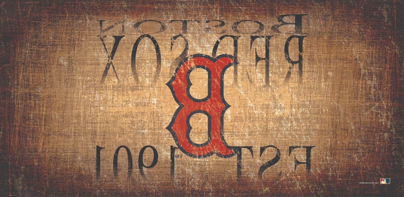 boston red sox heritage est 1901 wood