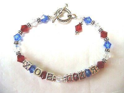 boston red sox jewelry bracelet made
