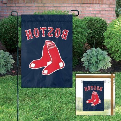 boston red sox mlb garden window flag