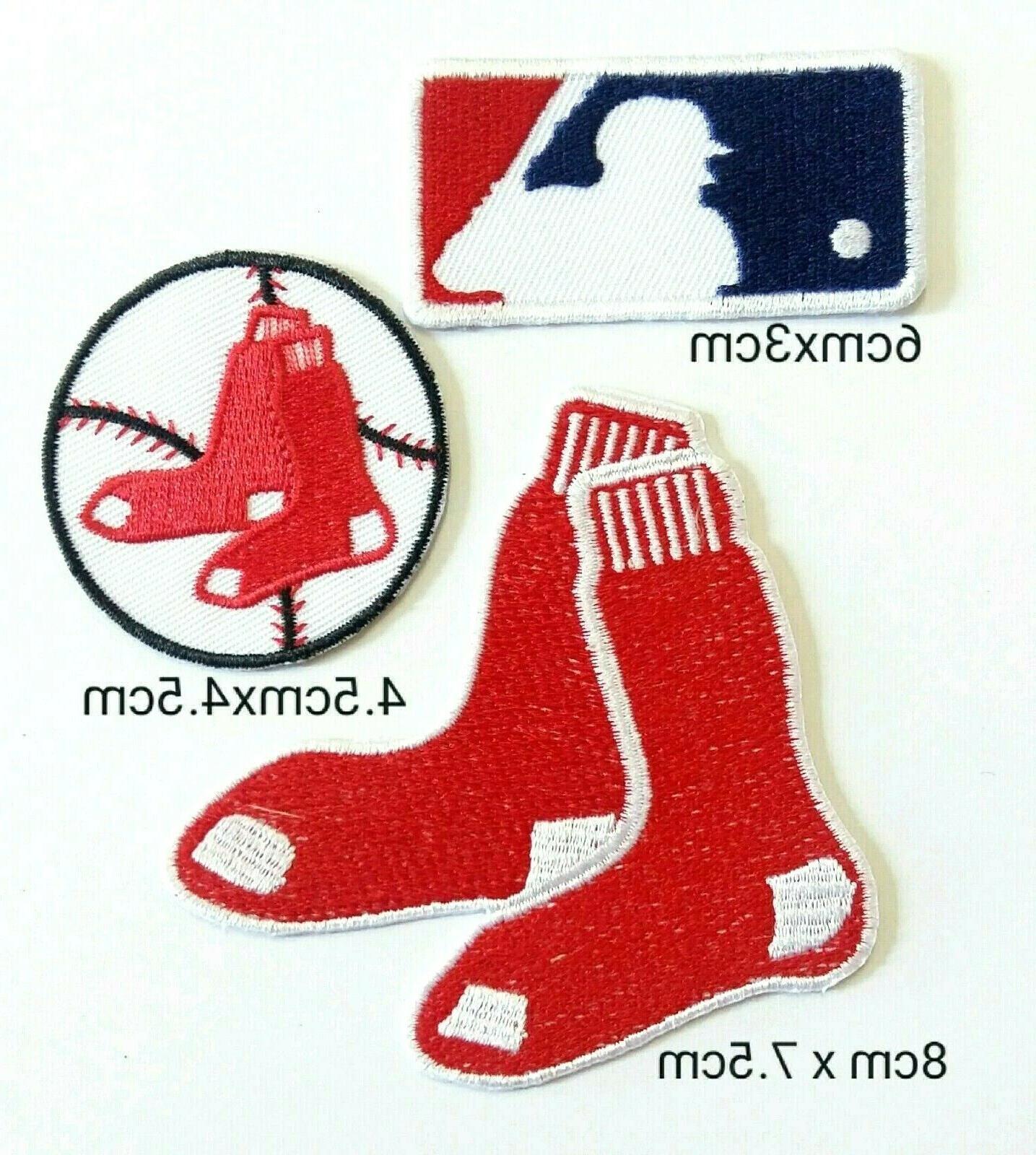 boston red sox set 3pcs baseball sport