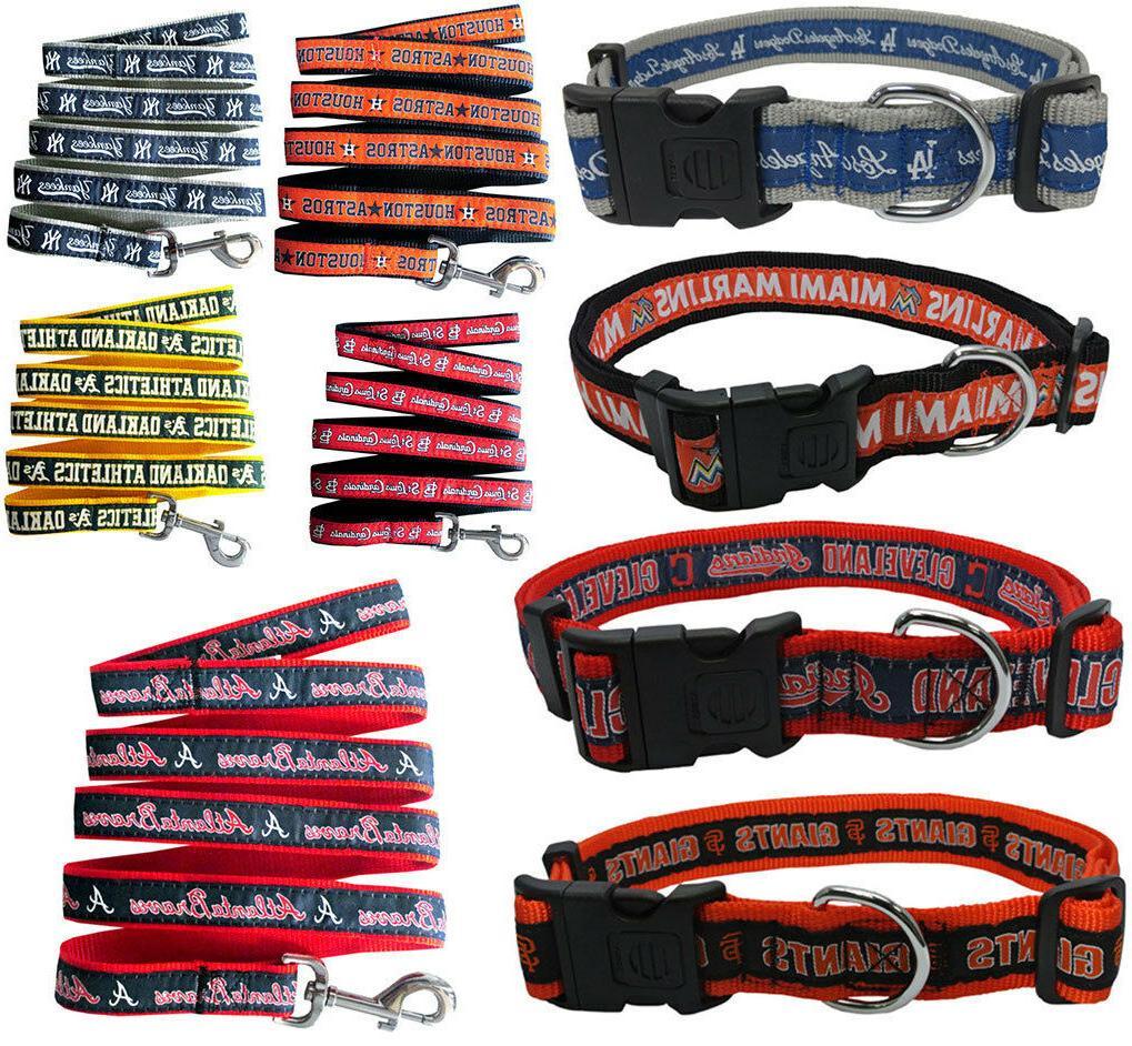 mlb fan pet gear dog collar or
