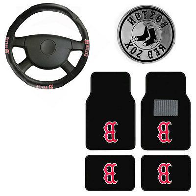 new 6pc mlb boston red sox car
