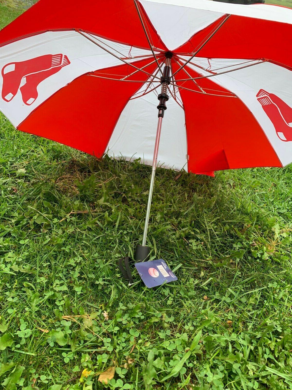 """New MLB Sox Umbrella Red 42"""""""