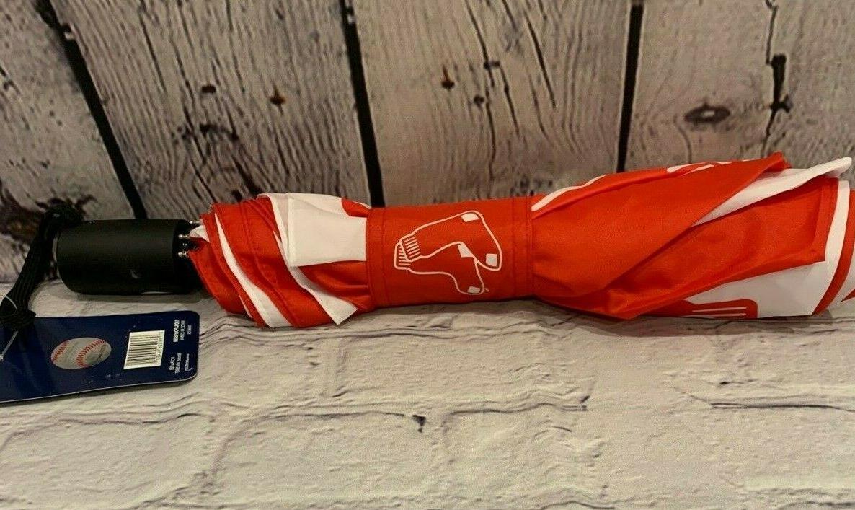 "New Boston Red Sox Umbrella Red White Canopy 42"""
