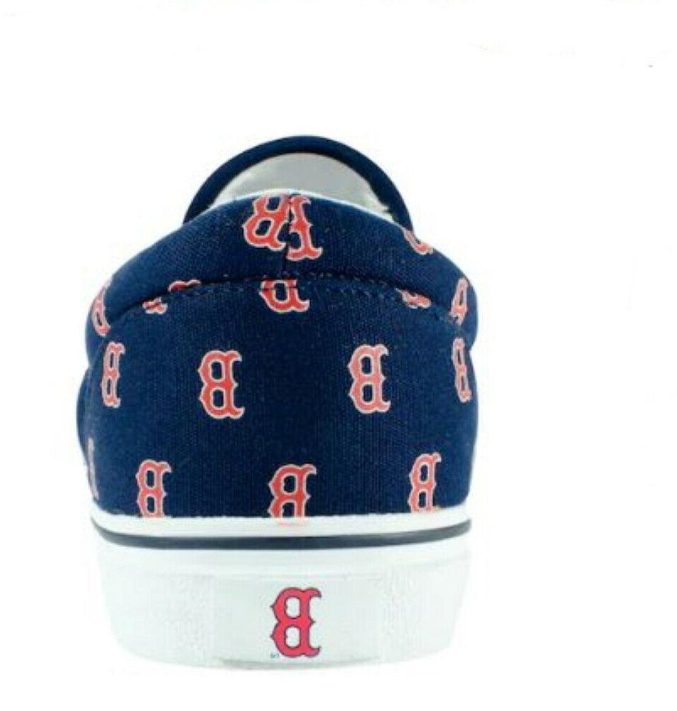 Unisex Slip Sneakers Boston Red Navy Blue Boat Men's 7