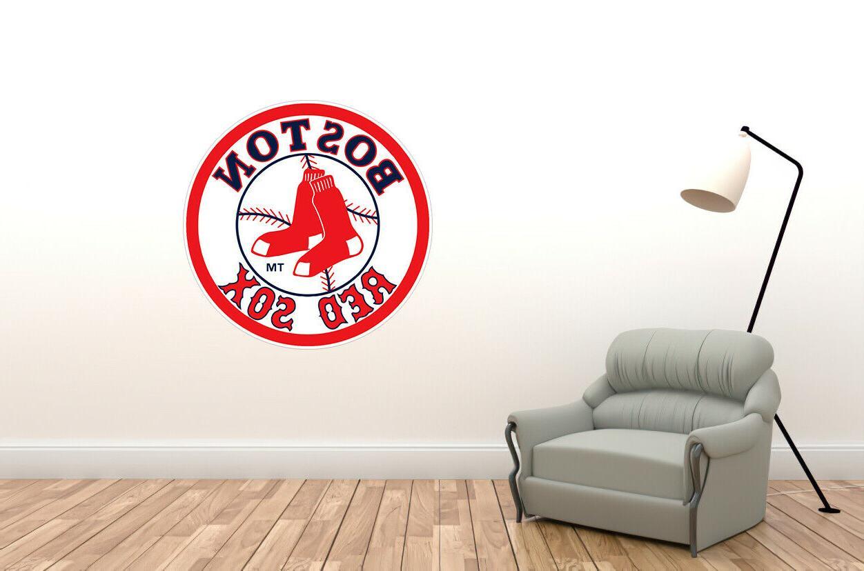 wall decal boston red sox logo mlb