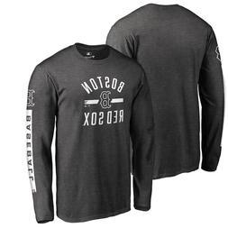 Boston Red Sox Long Sleeve T-Shirt – Heathered Charcoal Ba