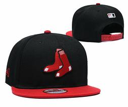 Men's Boston Red Sox 9FIFTY Flat Hats Baseball Cap - Black/