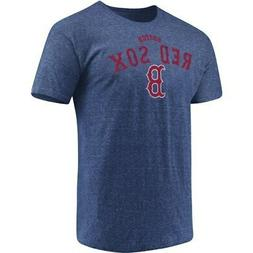 Men's Majestic Heathered Navy Boston Red Sox Overarching Tri
