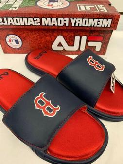 FILA Men's Boston Red Sox Slip On Sandal Slippers Size 12