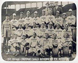 MLB 1915 Boston Red Sox Team Picture Babe Ruth Black & White