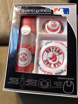 MLB Baby Fanatic Bib, Bottle & Pacifier Gift Set Multi-Color