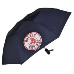 """MLB Boston Red Sox Auto Open Folding Umbrella 42"""" Rain Game"""