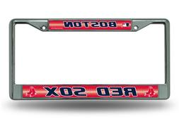 MLB Boston Red Sox Bling License Plate Frame, Chrome, 12 x 6