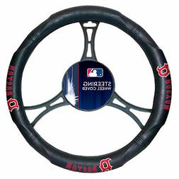 MLB Boston Red Sox Car Truck Suv Synthetic Leather Steering