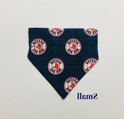 MLB Boston Red Sox Navy Blue Over Collar Slide On Pet Dog Ca