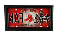 MLB Boston Red Sox Number 1 Fan License Plate Mantel or Wall