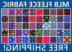 """MLB Pro Baseball Fleece All-Teams Fabric, 60"""" Wide, by The Y"""