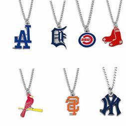 MLB logo necklace charm pendant PICK YOUR TEAM