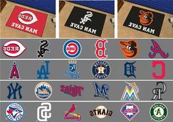 "MLB Man Cave Starter Mat Area Rugs 19"" x 30"" All Teams"