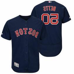 Mookie Betts #50 Boston Red Sox Men's Majestic Navy Jersey
