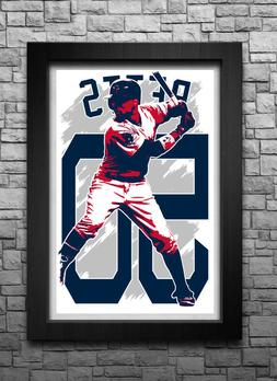 MOOKIE BETTS art print/poster BOSTON RED SOX FREE S&H! JERSE