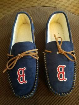 NEW Boston Red Sox foco Blue MLB Men's Moccasins Slippers Si