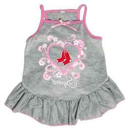 NEW BOSTON RED SOX PET DOG PINK TOO CUTE SQUAD CHEERLEADER J