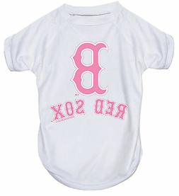 NEW BOSTON RED SOX PET DOG PINK PERFORMANCE T-SHIRT ACTIVE T