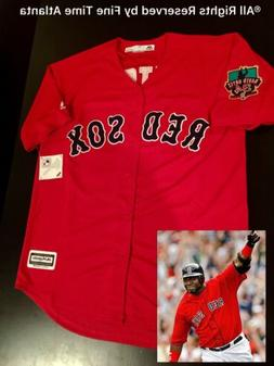 NEW David Ortiz Boston Red Sox Men's Red Alternate Final Sea