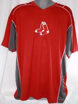 NEW Mens Majestic Boston Red Sox Logo V Neck Style Big & Tal