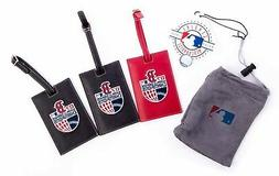 NEW - MLB Boston Red Sox Champion Leather Luggage Tags - Set