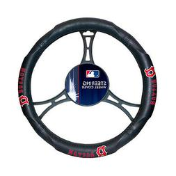 "New MLB Boston Red Sox Steering Wheel Cover Universal 14.5""-"