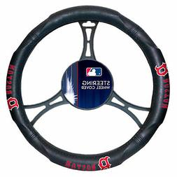 New MLB Boston Red Sox Synthetic Leather Car Truck Steering