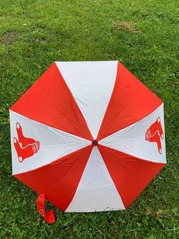 New MLB Boston Red Sox Umbrella Auto Folding Red White Large