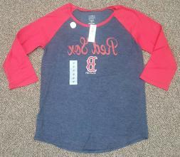 NEW NWT GIRLS XL 14 BOSTON RED SOX JERSEY SHIRT baseball TEA
