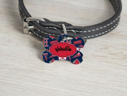 Pet ID Tag Boston Red Sox MLB Personalized Custom Double Sid