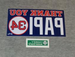Red Sox Boston Fenway Thank You Papi Logo David Ortiz Bumper