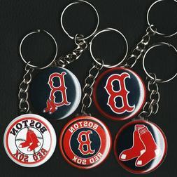 Set of 5 Key Chains BOSTON RED SOX Logos RETRO