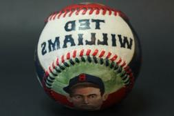 ted williams hand painted baseball boston red