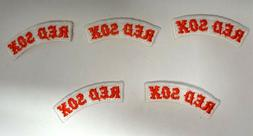 The Boston Red Sox Baseball Patches Sew On/Iron On 5PK